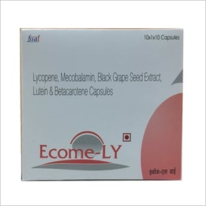 Lycopene With Mecobalamin Black Grape Seed Extract Lutein And Beta Carotene Capsules