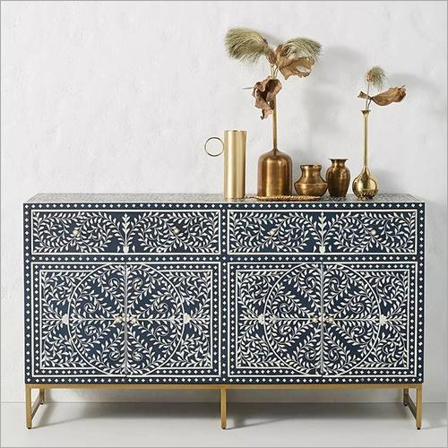 Bone Inlay Furniture 4 Drawer Sideboard