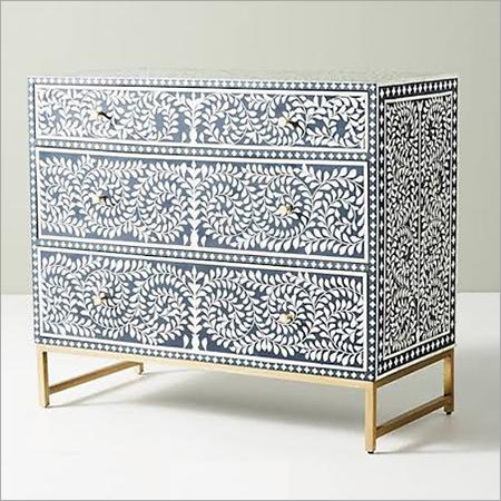 Bone Inlay Sideboard Furniture with 6 Drawers