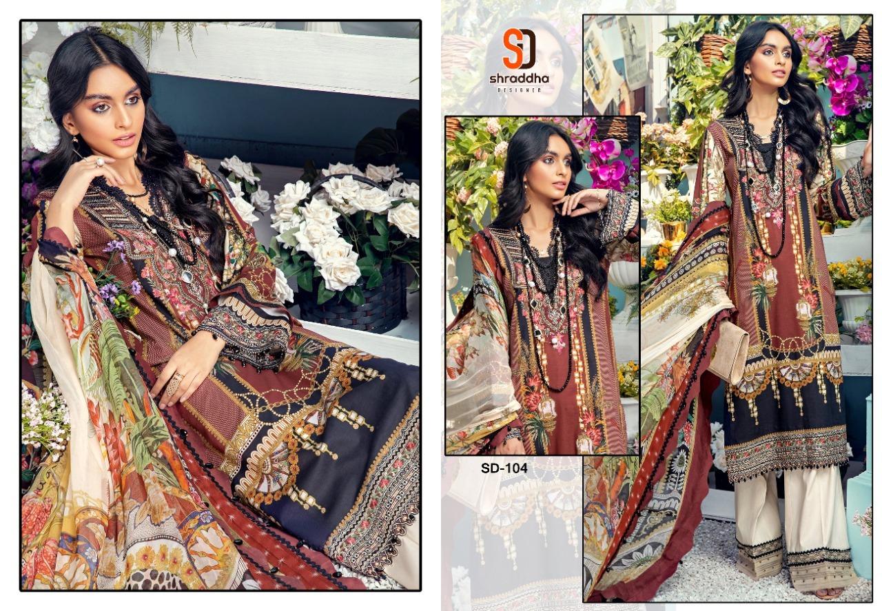 Shradda Designer Anaya Print Collection Lawn Print Pakistani Dress Material Catalog