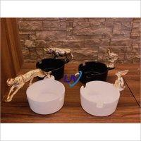 Ceramic Coated Metal Ashtray
