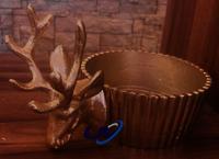 Reindeer Front Metal Ashtray