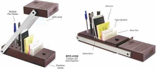 Foldable Led Desk Organizer