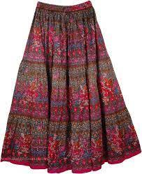 BCI Cotton Ladies Skirts New Collections Made in India