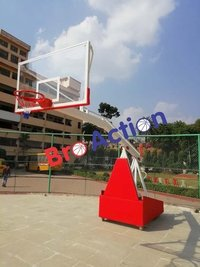BRO ACTION Movable TOURNAMENT BASKETBALL POLE, Size: 5 Feet -10 Feet