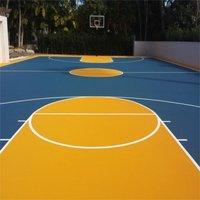 BRO ACTION Matte Synthetic Basketball Court Flooring, Indoor Outdoor