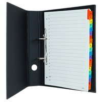 Comma Abaca - A4 Size - 1.5 inch - 2D Ring Binder File (Black)