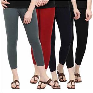 Ladies Ankle Length Leggings Combo Set
