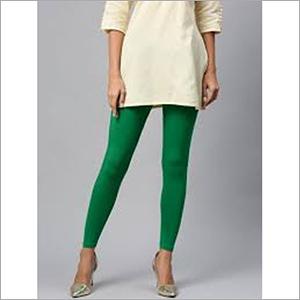 Ladies Green Cotton Leggings