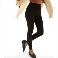 Ladies Black Cotton Lycra Leggings