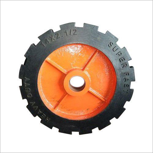 14 Inch Rubber Trolley Caster Wheel