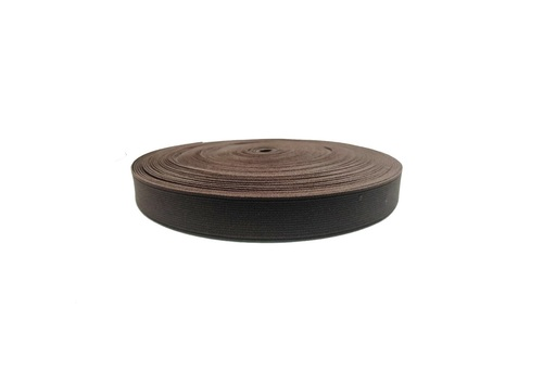 20mm Shoe Elastic SS-10100024 BROWN -2 PANTONE 19 - 1235 TPG BRUNETTE