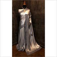 Silver Heavy Lycra Saree