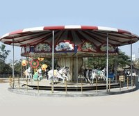 FRP Round Carousel Amusement Ride