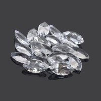 2.5x5mm White Topaz Faceted Marquise Loose Gemstones