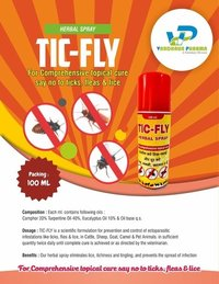 FOR COMPREHENSIVE TOPICAL CURE SAY NO TO TICKS, FLEAS & LICE