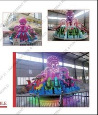 FRP Round Octopus Turntable Ride, For Malls, Capacity: 16 Person