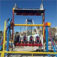Red FRP Round Roller Ride