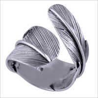 Stunning Textured Leaf Plain 925 Sterling Solid Silver Handmade Ring