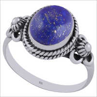 Lapis Natural Gemstone 925 Sterling Solid Silver Oval Cabochon Handmade Ring