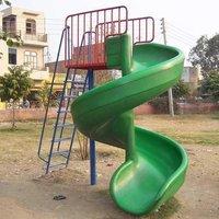 Multicolor Fibreglass Playground Spiral Slide, Age Group: 4-6 Yrs