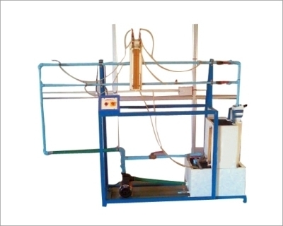 Friction In Pipe Lines Apparatus