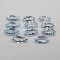 5x10mm Sky Blue Topaz Faceted Marquise Loose Gemstones