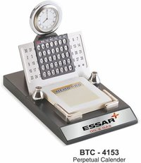 3-in-1 Perpetual Calendar With Watch