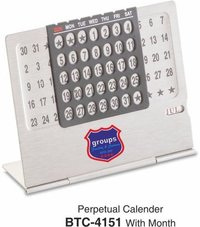 Silver Perpetual Calendar With Month
