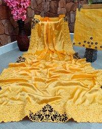 Heavy Crepe Silk Saree