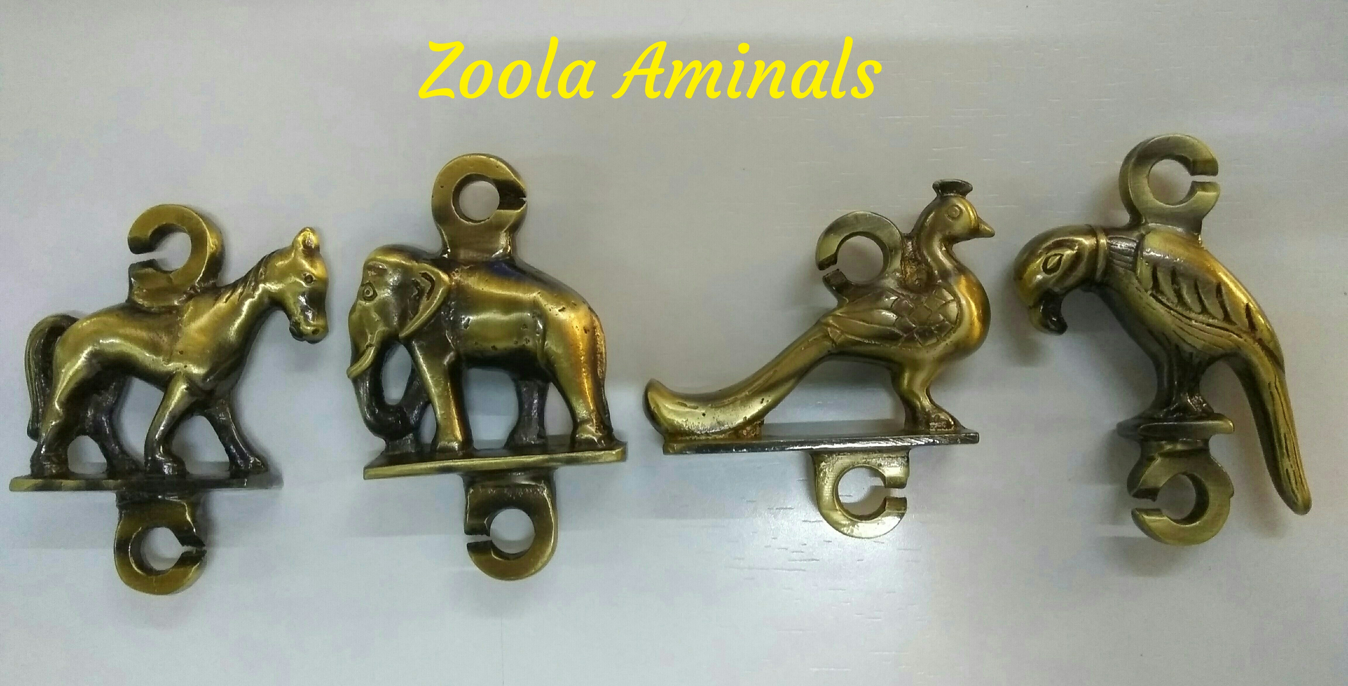 Brass Jhula Parot Heavy