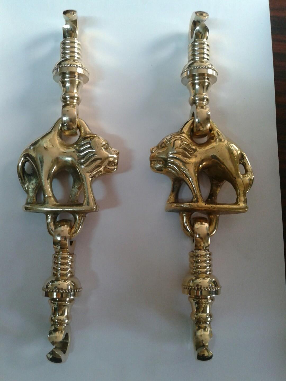 Brass Jhula Lion Light