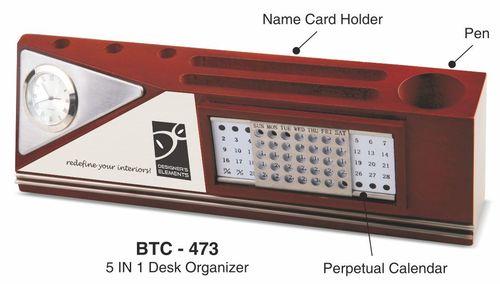 5-in-1 Wooden Desk Organizer