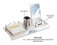 4-in-1 Stainless Steel Desk Organizer