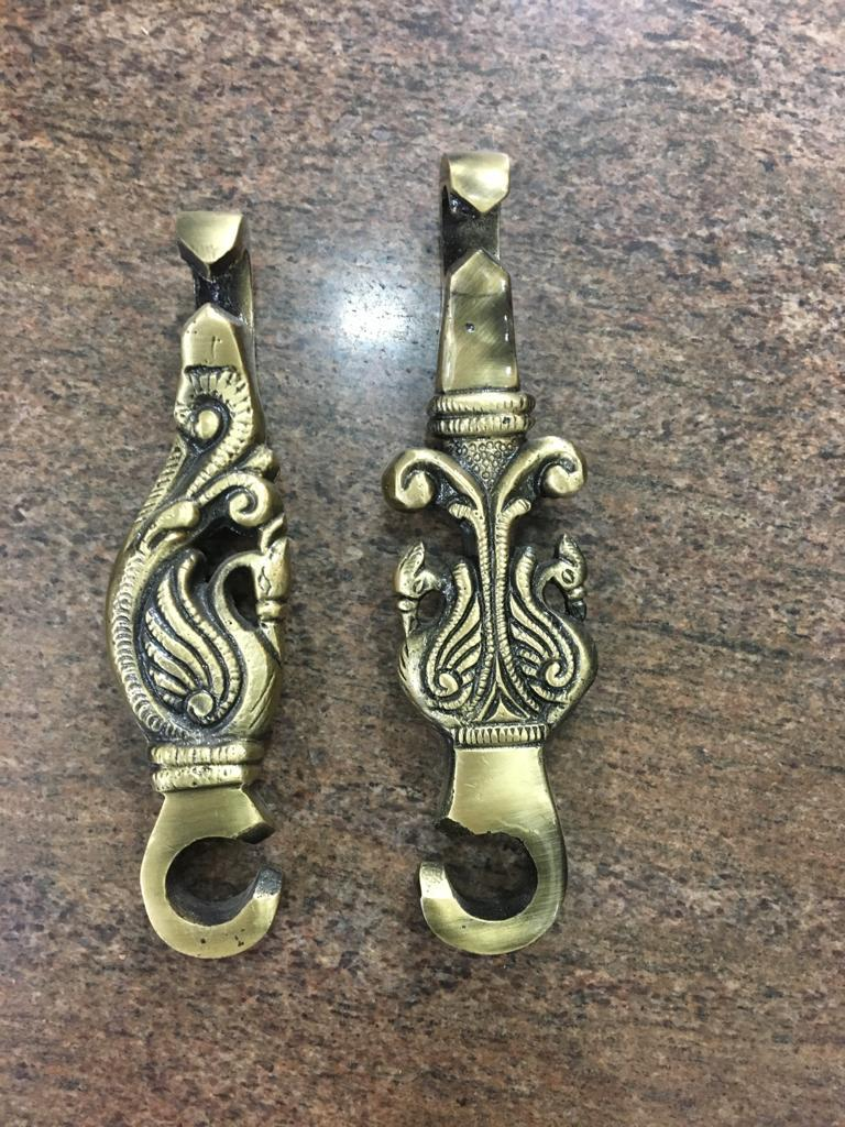 Brass Jhula Double Peacock