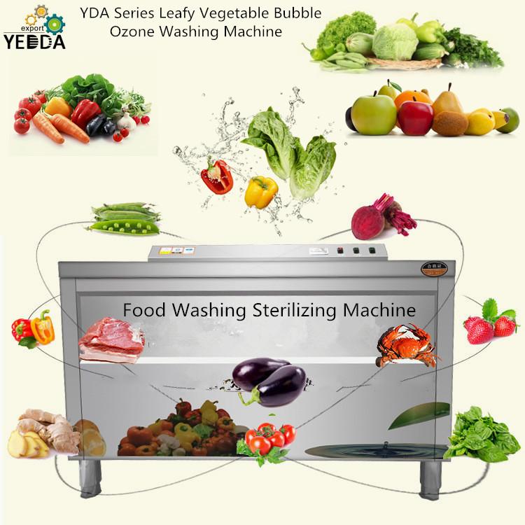 Automatic Cabbage Mustard Pakchoi Disinfection Washing Machine Ultrasonic Tangerine Washer