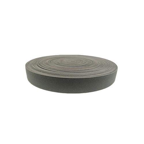 25mm Shoe Elastic SS-10100192 DK. GREY PANTONE 18-0403 TPG DARK GULL GREY