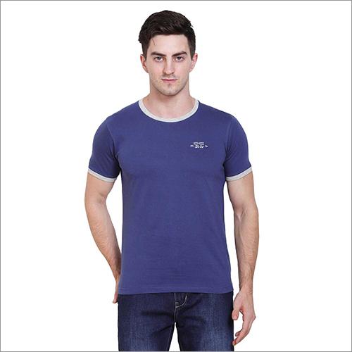 Mens Regular Fit Royal Colour Round Neck Solid T-Shirt