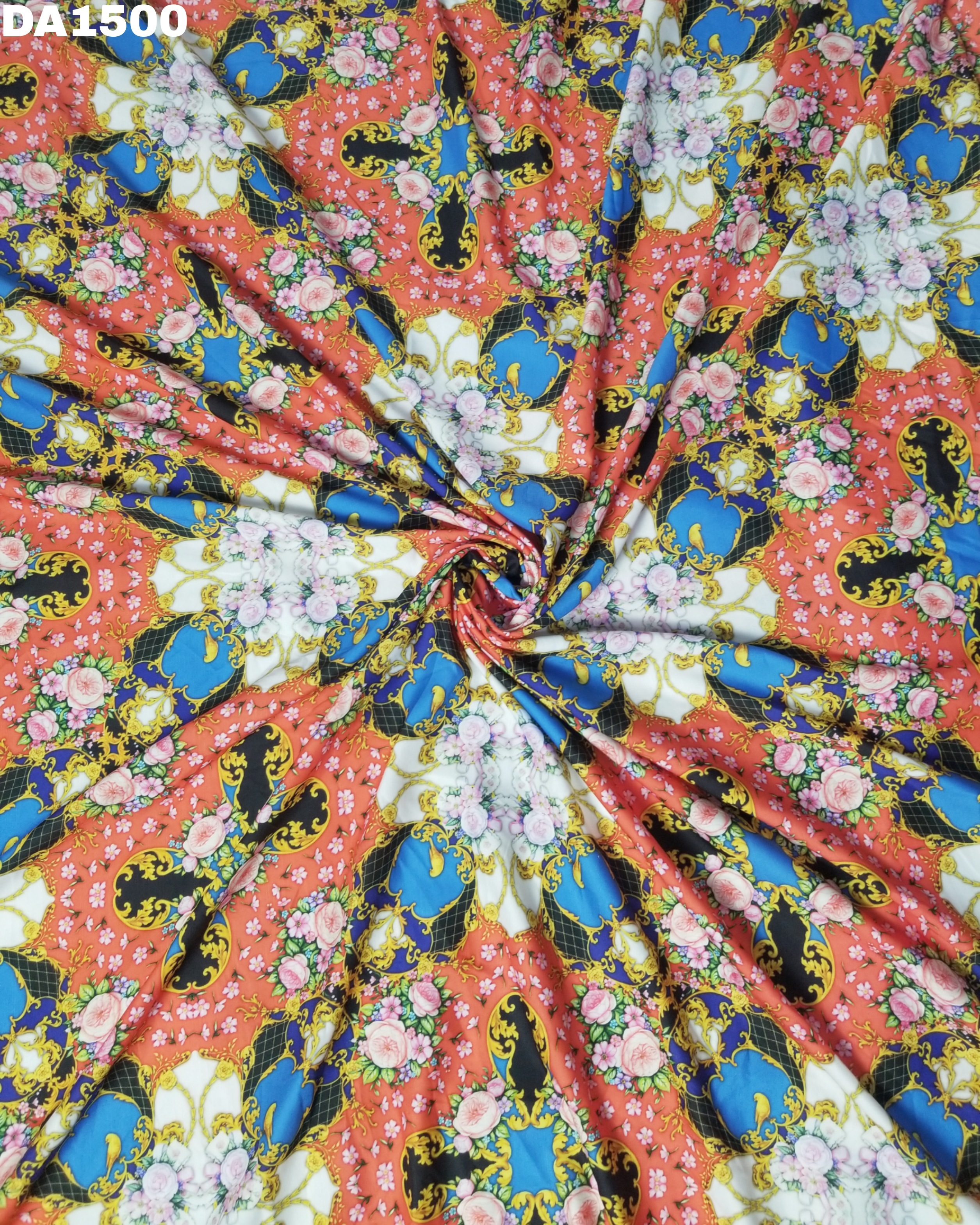 Stunning Digital Print Design on Rayon Slub Fabric