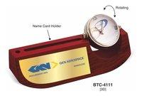 Wooden Base Rotation Clock