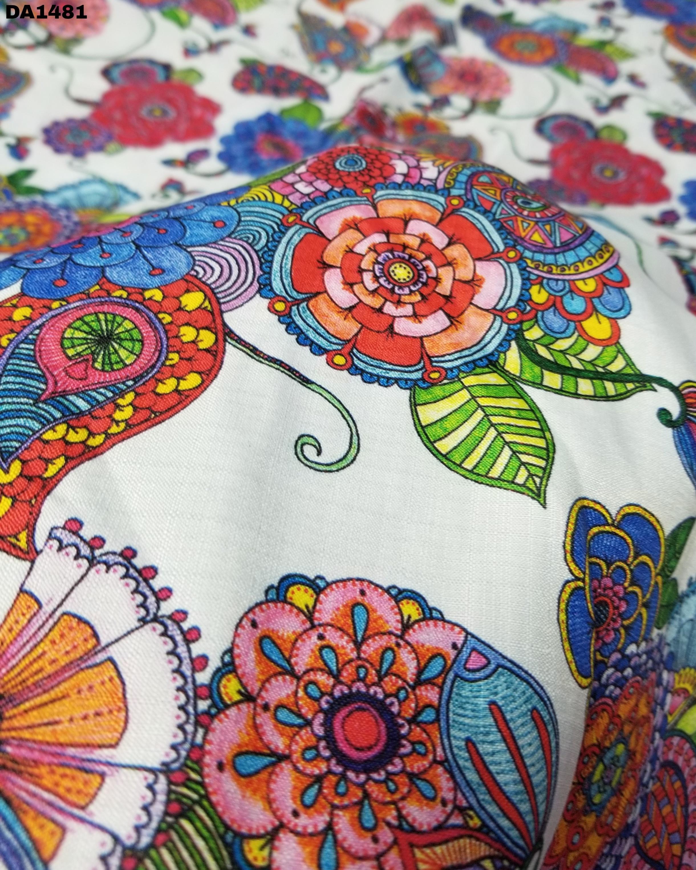 Stunning Big Width Digital Prints on Linen Fabric