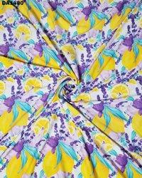 Colorful Digital Prints on Twill Silk Fabric