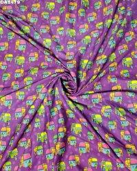 Stunning Digital Prints on Twill Silk Fabric