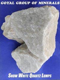 Snow White Quartzite Lumps