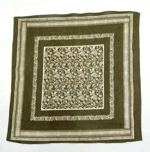 Cotton Printed Square Scarves