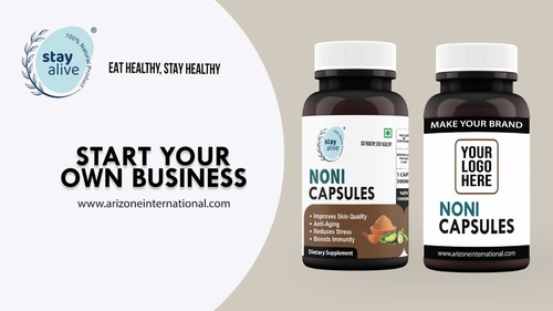 Immune System Booster Herbal Supplement Noni Powder Capsules from India