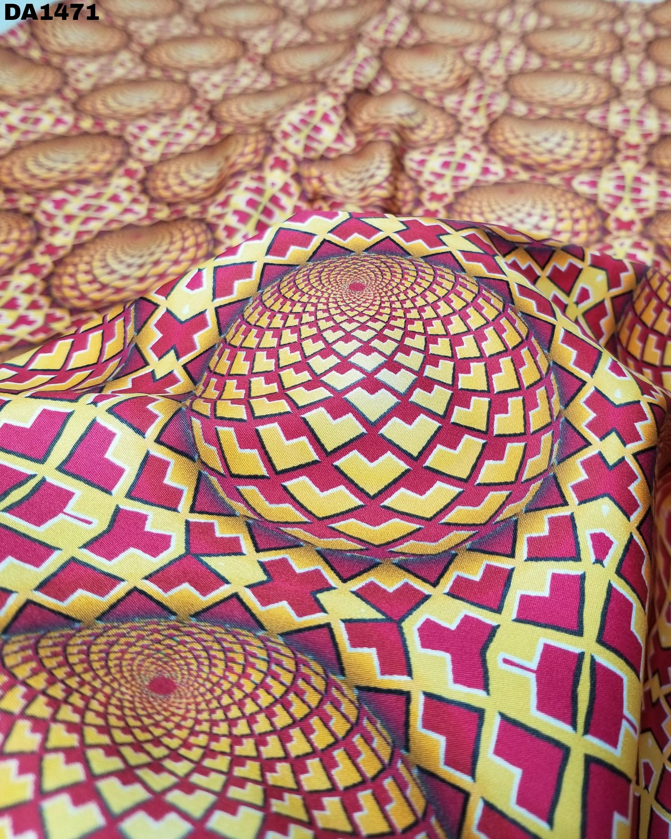 Wonderful 3D Digital Print on Micro Mini Sartin Fabric