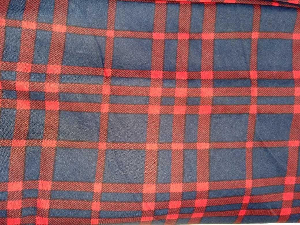 Polyester Semi 4 Way Lycra Printed Fabric...