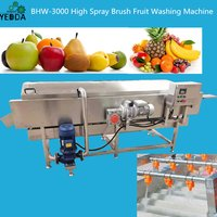 Hq-4-800 Blueberry Mullberry Cherry Olive Loquat Roller Brush Spray Washing Machine