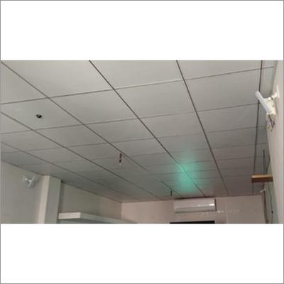 Center Black Grid Ceiling Works Services